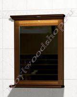"""Зеркало с полкой для ванной комнаты из массива """"Челси-1 АЛЕКС-70 орех"""""""