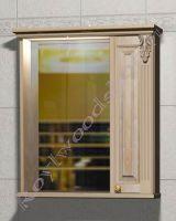 """Подвесной шкаф для ванной комнаты """"Челси-2 УОРВИК-80R береза"""" (правая дверка)"""