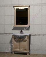 """Мебель ванная из дерева """"Челси-2 УОРВИК-75 береза"""" с зеркалом"""