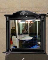 """Зеркало с подсветкой для ванной комнаты """"Руссильон PROVENCE-100 черное дерево"""""""