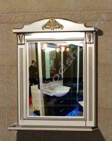 """Зеркало с полкой для ванных комнат """"Руссильон PROVENCE-85 светлое дерево"""""""