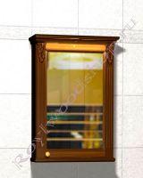 """Зеркальный шкаф для ванных """"Челси-2 УОРВИК-55R орех"""" из дерева (правая дверка)"""