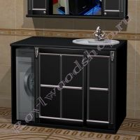 """Шкаф под стиральную машину """"Руссильон PROVENCE Комби-L черный"""""""