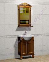 """Мебель для ванной в классическом стиле """"Глазго Эндрю-55 орех"""""""