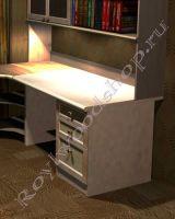 Письменный стол для школьника увеличенной глубины из дерева 1200x800x726мм