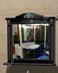 "Зеркало ""Руссильон PROVENCE-100 черное дерево"""
