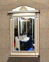 """Зеркало с полкой в ванную комнату """"Руссильон PROVENCE-55 светлое дерево"""""""