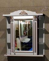 """Зеркальный шкаф с подсветкой """"Руссильон PROVENCE-85R светлое дерево"""" (правое открывание)"""