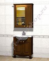"""Мебель для ванной из массива """"Челси-2 УОРВИК-75 орех"""""""
