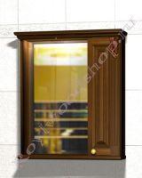 """Шкаф-зеркало для ванной комнаты из массива """"Челси-2 УОРВИК-80R орех"""" (правая дверка)"""