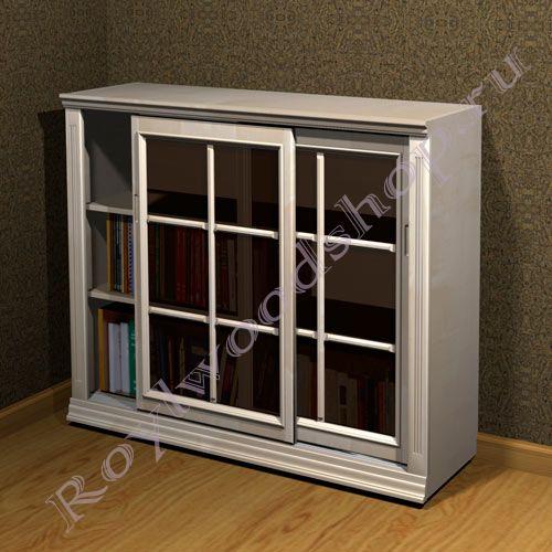 """Книжный шкаф со стеклом """"лондон сити-с береза"""" из дерева дом."""