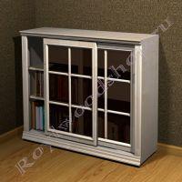 """Книжный шкаф со стеклом """"Лондон СИТИ-С береза"""" из дерева"""